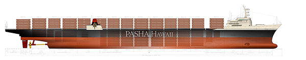 Pasha Hawaii's Spirit Vessel ships thousands of containers per month to and from Hawaii