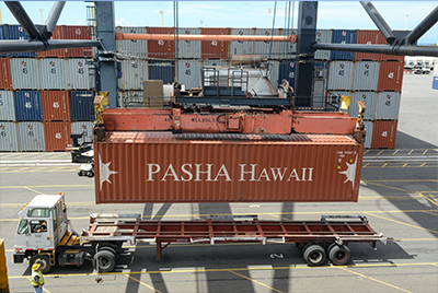 Pasha Hawaii Shipping Container Loading and Balance details