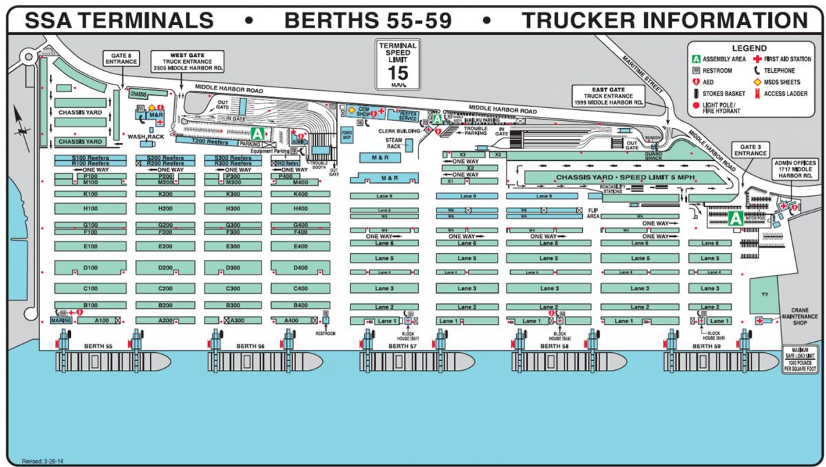 Details of Pasha Hawaii's Oakland Terminal, Ports America