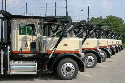 Pasha's fleet of trucks is a vital component of the company's suite of integrated shipping services