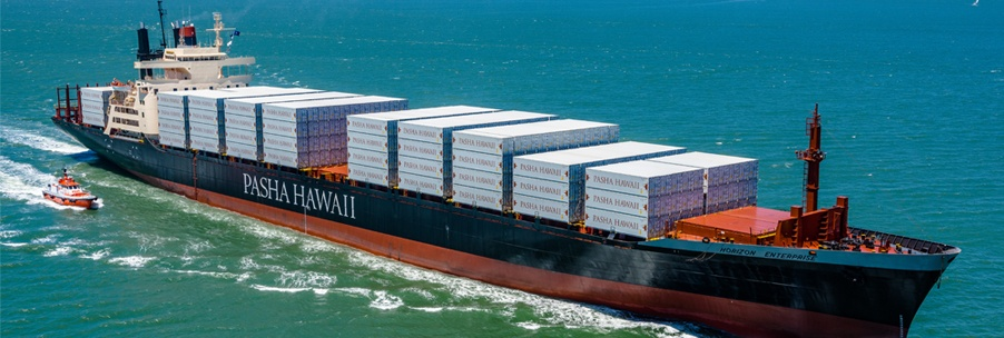 Twice-weekly container service between California and Hawaii