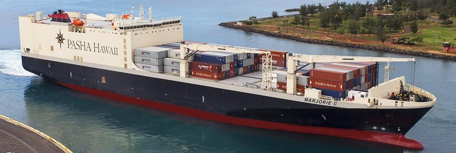 M/V Marjorie C entering Honolulu Harbor