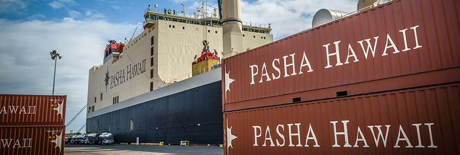 Loading Containers on Pasha's Vessel Marjorie C.  Shipping containers to Hawaii made easy.