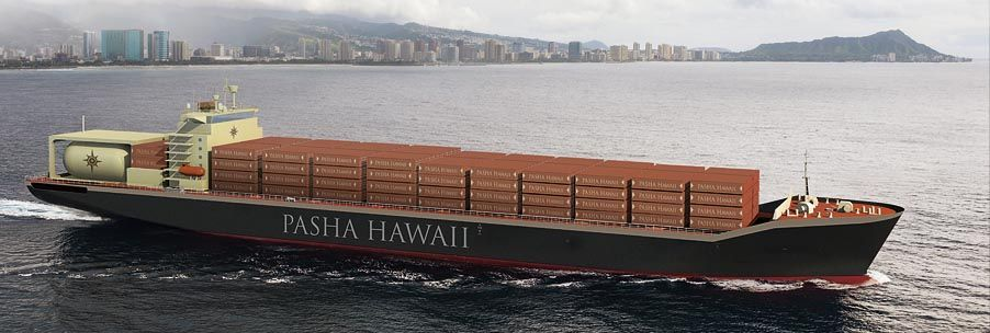 Two new LNG-fueled containerships will join the Pasha Hawaii fleet in 2020